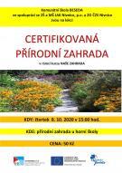 Certifikovaná přírodní zahrada